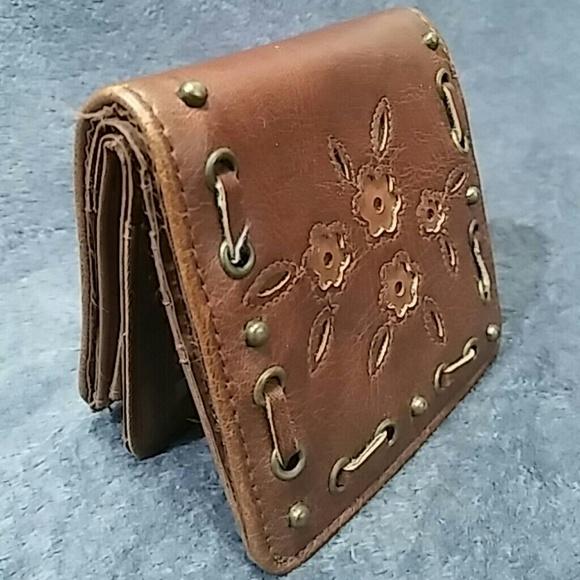 unknown Handbags - Vintage  Brown Leather Mini Wallet